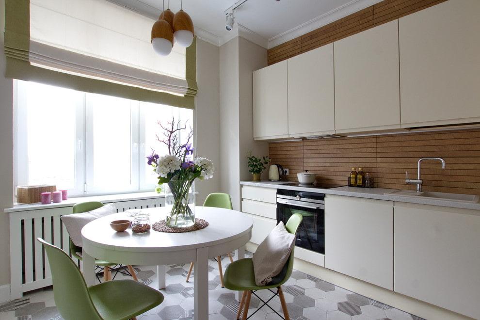 кухня с круглым столом фото вариантов
