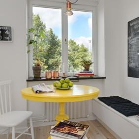 кухня с круглым столом фото варианты