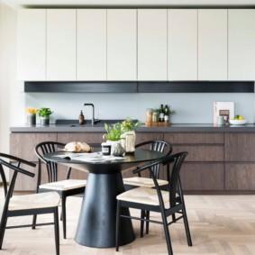 кухня с круглым столом идеи оформление
