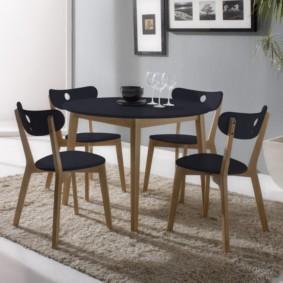 кухня с круглым столом идеи вариантов
