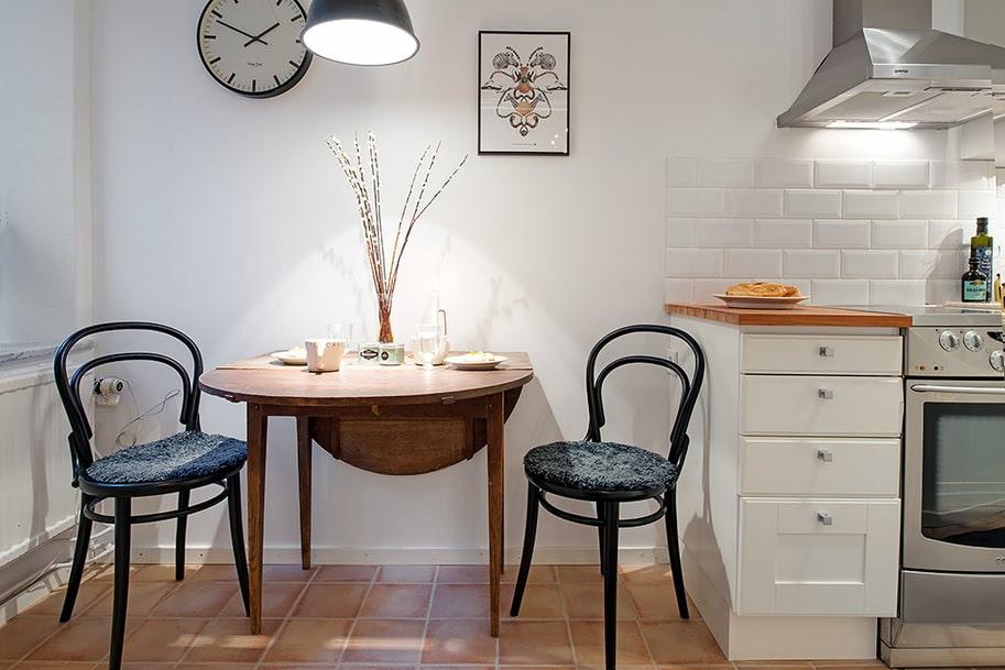 кухня с круглым столом идеи видов