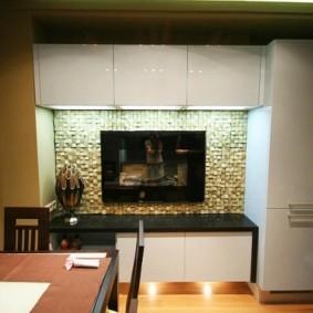 кухня с вентиляционным коробом идеи фото