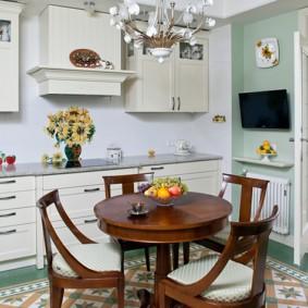 кухня совмещенная с балконом декор фото