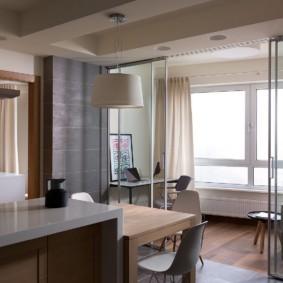 кухня совмещенная с балконом дизайн идеи