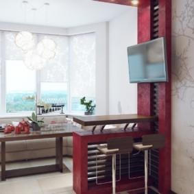 кухня совмещенная с балконом идеи