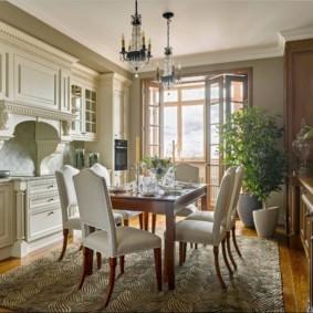 кухня совмещенная с балконом идеи декора