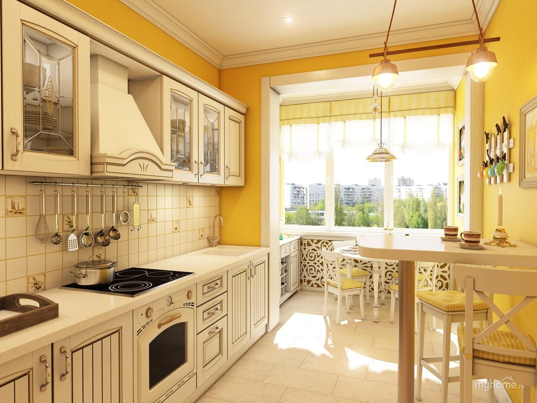 кухня совмещенная с балконом идеи фото