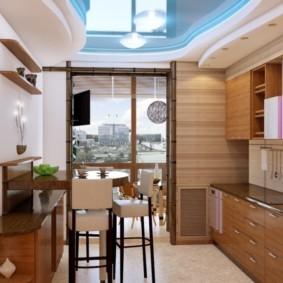 кухня совмещенная с балконом идеи варианты