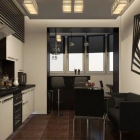 кухня совмещенная с балконом идеи виды