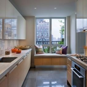 кухня совмещенная с балконом интерьер идеи