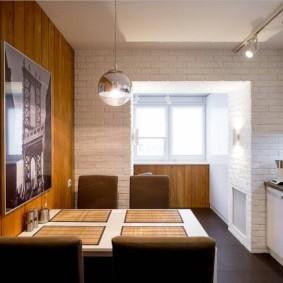 кухня совмещенная с балконом варианты