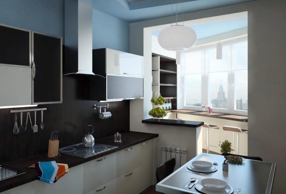 кухня совмещенная с балконом варианты идеи