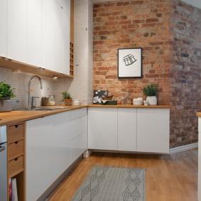 кухня студия в квартире декор