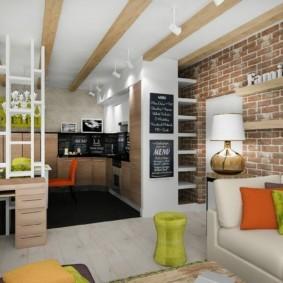 кухня студия в квартире декор идеи