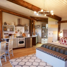 кухня студия в квартире фото декора