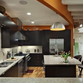 кухня студия в квартире фото дизайна