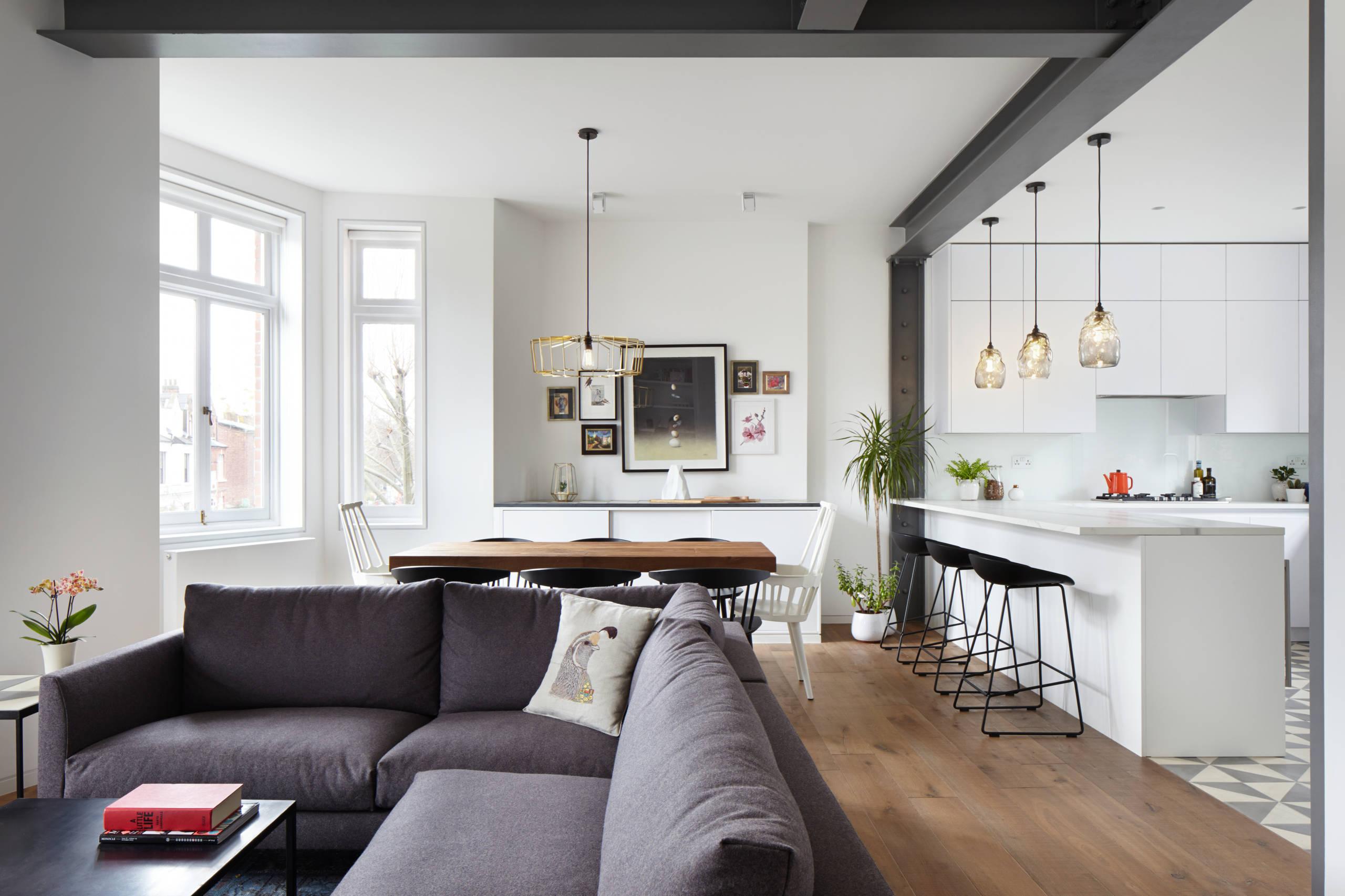 кухня студия в квартире фото интерьер