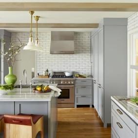 кухня студия в квартире фото интерьера