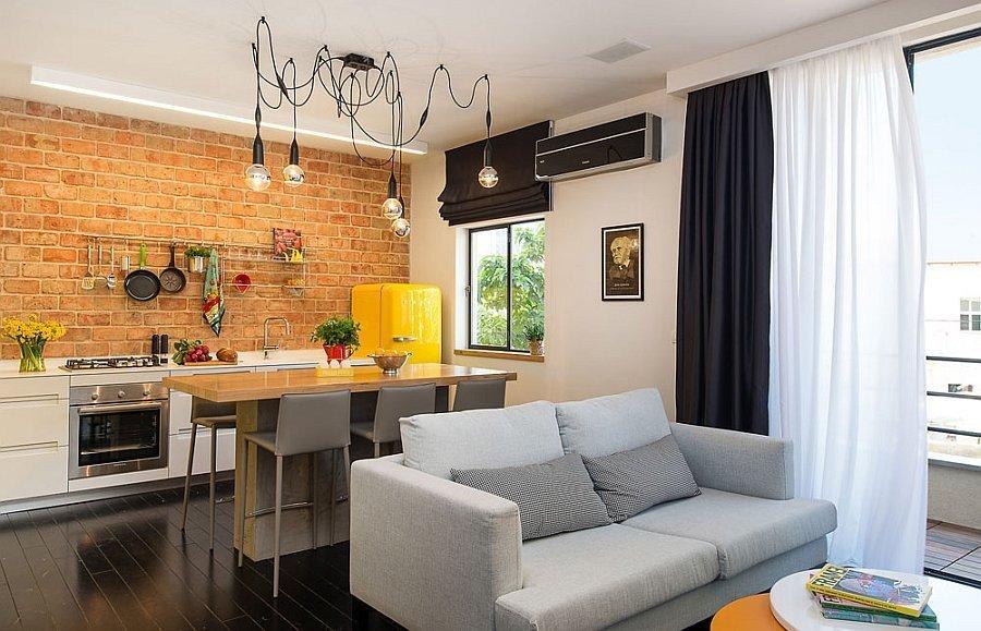 кухня студия в квартире фото оформления