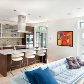 кухня студия в квартире фото видов