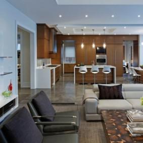кухня студия в квартире фото виды