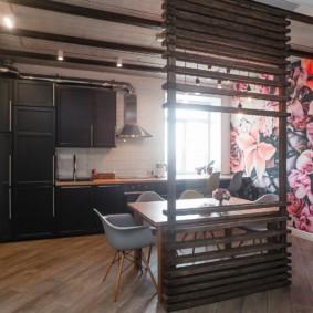 кухня студия в квартире идеи