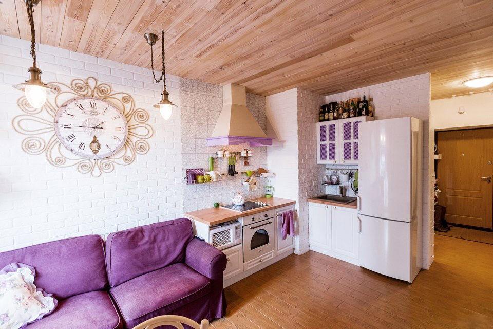 кухня студия в квартире идеи декор