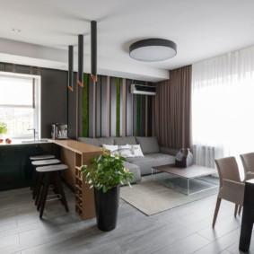 кухня студия в квартире идеи интерьера