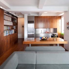 кухня студия в квартире идеи видов