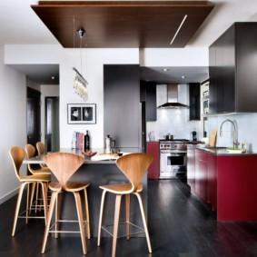 кухня студия в квартире оформление