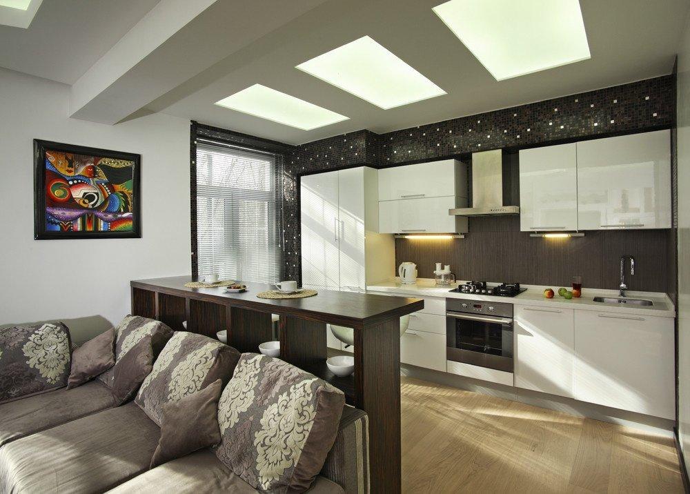 кухня студия в квартире оформление фото