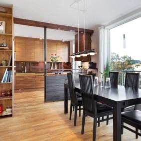 кухня студия в квартире оформление идеи