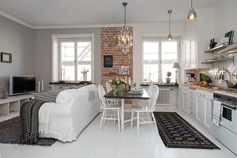 кухня студия в квартире варианты