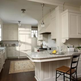 кухня студия в квартире виды фото