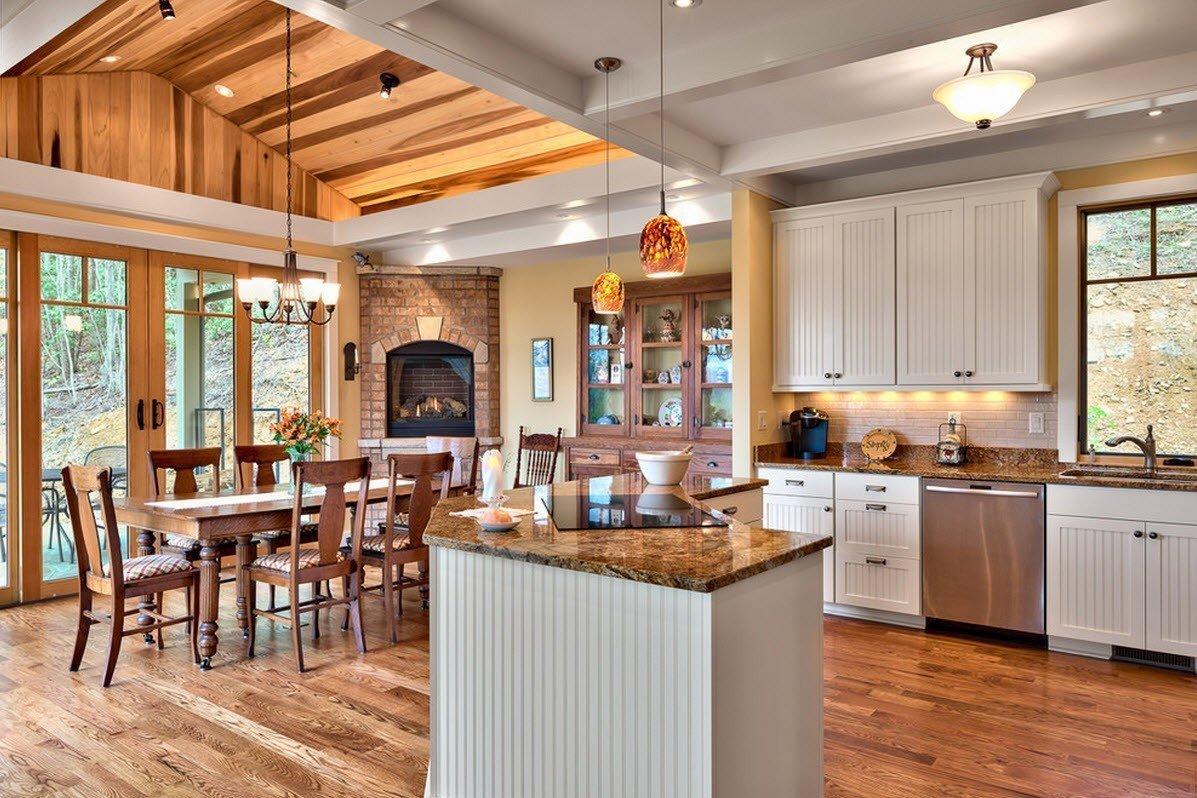 кухня в загородном доме дизайн фото