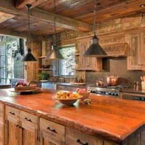 кухня в загородном доме фото дизайн