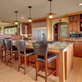 кухня в загородном доме фото оформление