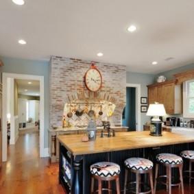кухня в загородном доме фото вариантов