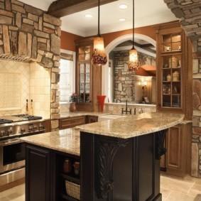 кухня в загородном доме фото видов