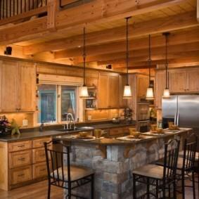 кухня в загородном доме идеи вариантов