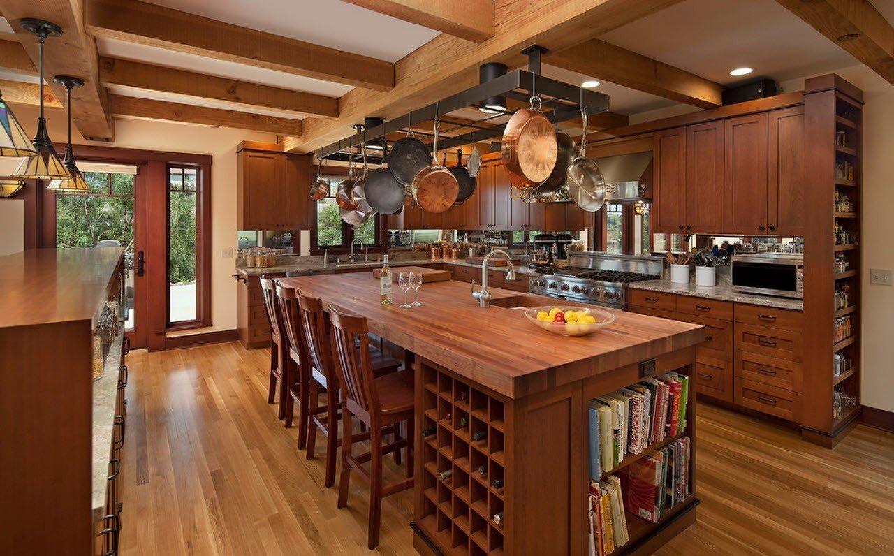 кухня в загородном доме интерьер идеи
