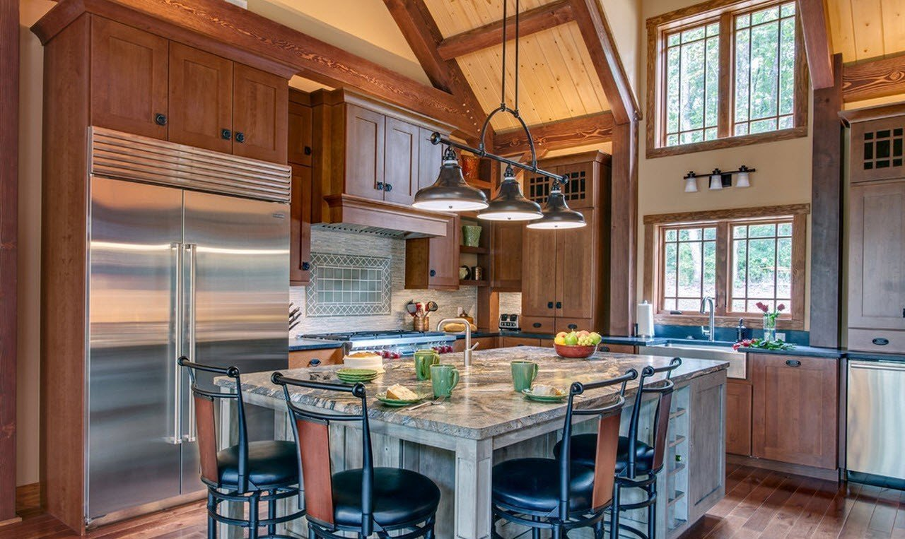 кухня в загородном доме интерьер