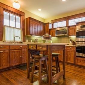 кухня в загородном доме оформление фото