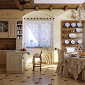 кухня в загородном доме варианты фото