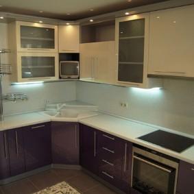 кухонный гарнитур в цвете ваниль и крем-брюле фото идеи