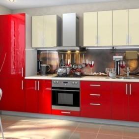 кухонный гарнитур в цвете ваниль и крем-брюле идеи декор