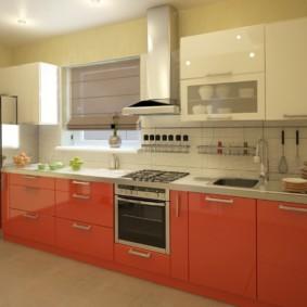 кухонный гарнитур в цвете ваниль и крем-брюле идеи дизайна