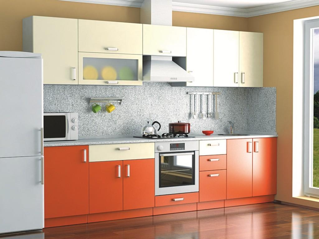 кухонный гарнитур в цвете ваниль и крем-брюле идеи фото