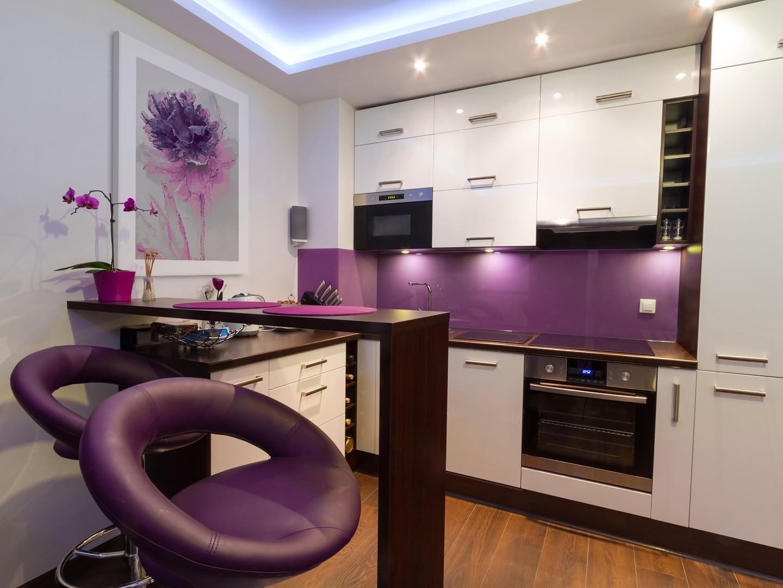 кухонный гарнитур с барной стойкой фото дизайн