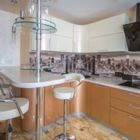 кухонный гарнитур с барной стойкой фото вариантов